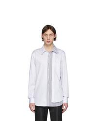 Camicia a maniche lunghe bianca di Alexander McQueen