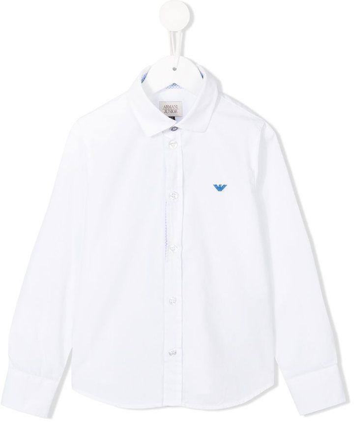 low priced 1574a a5a82 Camicia a maniche lunghe bianca di Armani Junior