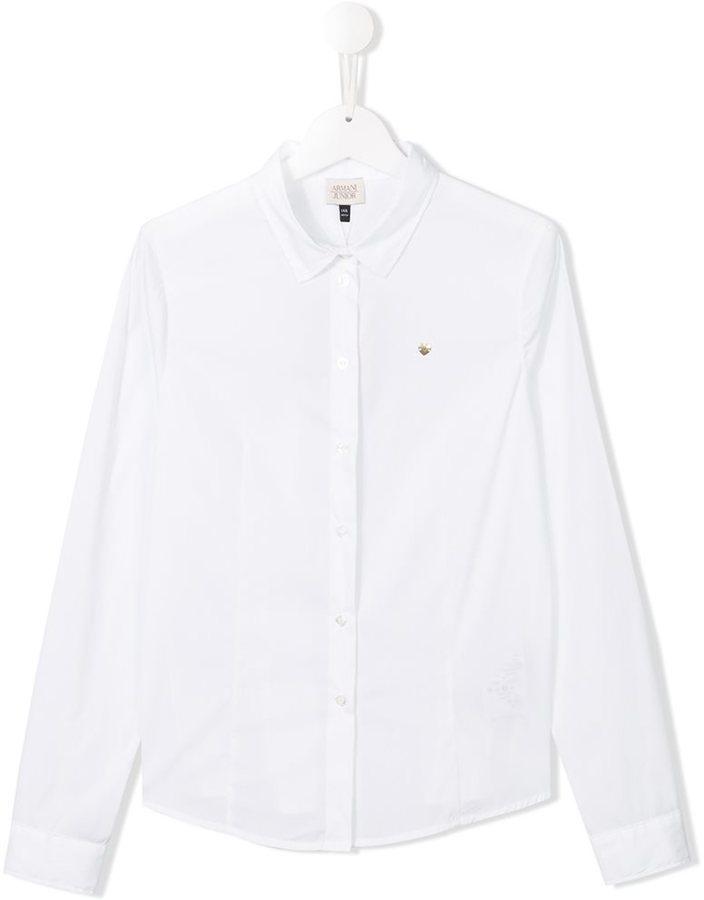 Camicia a maniche lunghe bianca di Armani Junior