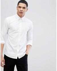 Camicia a maniche lunghe bianca di BOSS