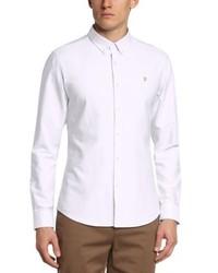 Camicia a maniche lunghe bianca di Farah