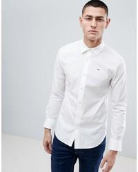 Camicia a maniche lunghe bianca di Tommy Jeans