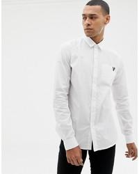 Camicia a maniche lunghe bianca di Versace Jeans
