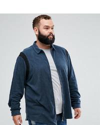 Camicia a maniche lunghe blu scuro di ASOS DESIGN