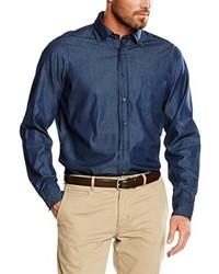 Camicia a maniche lunghe blu scuro di Casamoda