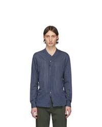 Camicia a maniche lunghe blu scuro di Giorgio Armani