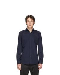 Camicia a maniche lunghe blu scuro di Hugo
