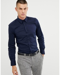 Camicia a maniche lunghe blu scuro di United Colors of Benetton