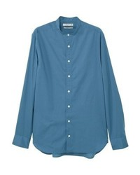 Camicia a maniche lunghe blu di Mango