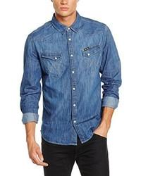 Camicia a maniche lunghe blu di Wrangler