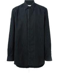 Camicia a maniche lunghe di flanella nera