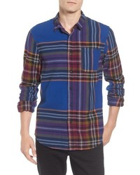 Camicia a maniche lunghe di flanella scozzese multicolore
