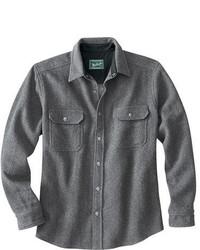 Camicia a maniche lunghe di lana grigia