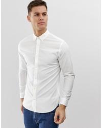 quality design 61f14 99eb1 Camicie a maniche lunghe di lino bianche da uomo   Moda uomo ...
