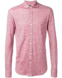 Camicia a maniche lunghe di lino rossa
