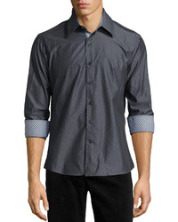 Camicia a maniche lunghe grigio scuro