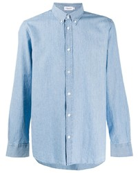 Camicia a maniche lunghe in chambray azzurra di Filippa K