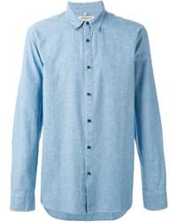 Camicia a maniche lunghe in chambray azzurra di Levi's