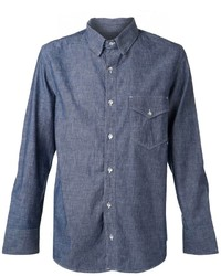 Camicia a maniche lunghe in chambray blu scuro di Rag and Bone
