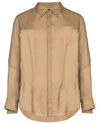 Camicia a maniche lunghe marrone chiaro di Sulvam