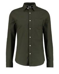Camicia a maniche lunghe marrone scuro di Burton Menswear London