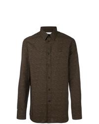 Camicia a maniche lunghe marrone scuro di Givenchy