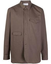 Camicia a maniche lunghe marrone di Han Kjobenhavn