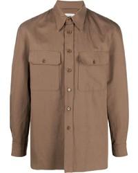 Camicia a maniche lunghe marrone di Lemaire