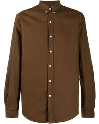 Camicia a maniche lunghe marrone di Polo Ralph Lauren