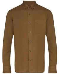 Camicia a maniche lunghe marrone di Tom Ford