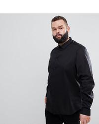 Camicia a maniche lunghe nera di ASOS DESIGN