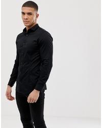 Camicia a maniche lunghe nera di Jack & Jones