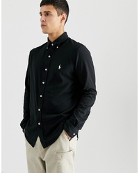 Camicia a maniche lunghe nera di Polo Ralph Lauren