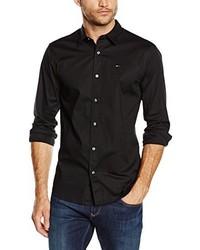 Camicia a maniche lunghe nera di Tommy Hilfiger