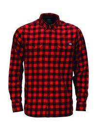 Camicia a maniche lunghe rossa di Dickies