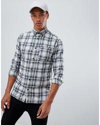 Camicia a maniche lunghe scozzese bianca e nera di Jack & Jones