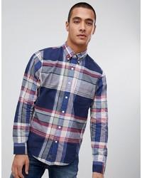 Camicia a maniche lunghe scozzese blu scuro di Abercrombie & Fitch