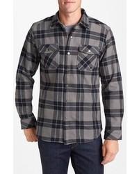Camicia a maniche lunghe scozzese grigio scuro