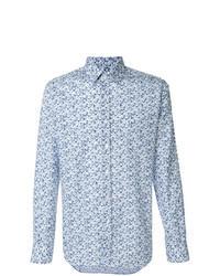 Camicia a maniche lunghe stampata azzurra