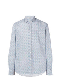 Camicia a maniche lunghe stampata azzurra di Etro