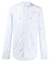 Camicia a maniche lunghe stampata azzurra di Kenzo