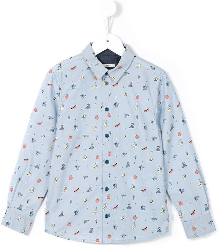 Camicia a maniche lunghe stampata azzurra di Paul Smith