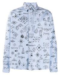 Camicia a maniche lunghe stampata azzurra di Rassvet