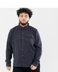 Camicia a maniche lunghe stampata blu scuro di Another Influence