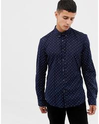 Camicia a maniche lunghe stampata blu scuro di Tom Tailor