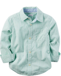 Camicia a maniche lunghe verde menta