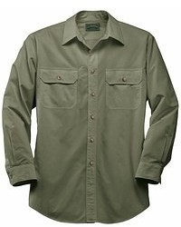 Camicia a maniche lunghe verde oliva
