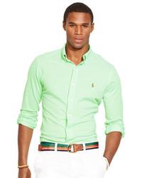 Camicia a maniche lunghe verde