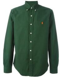 Camicia a maniche lunghe verde scuro