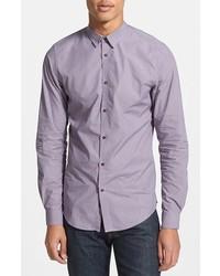 Camicia a maniche lunghe viola chiaro